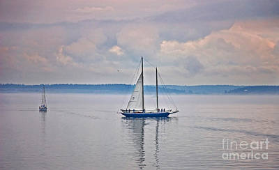 Photograph - Sailing On A Misty Morning Art Prints by Valerie Garner