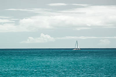 Photograph - Sailing On A Turquoise Sea by Jason Bartimus