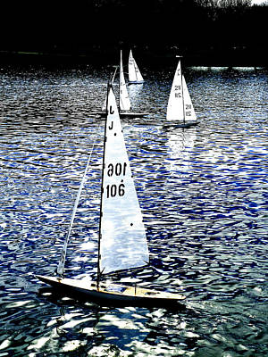 Sailing On Blue Art Print by Steve Taylor