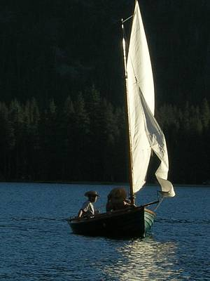 Photograph - Sailing On Donnor Lake by Kristen R Kennedy