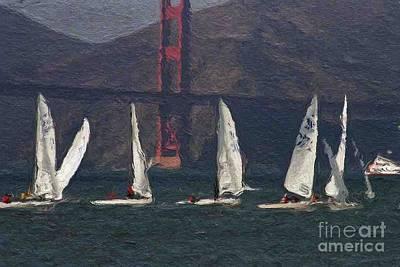 Sailing On The Bay 2 Art Print