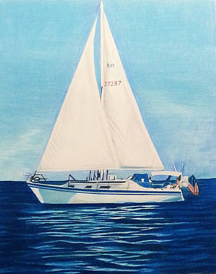 Sailing On The Calm Seas Original