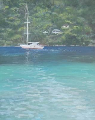 Sailing On The Caribbean Art Print