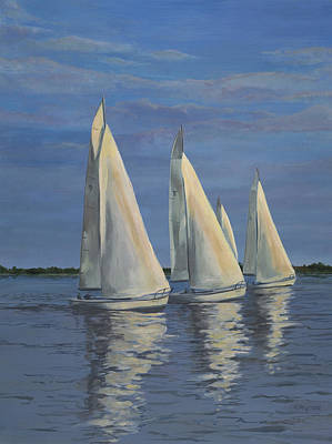 Sailing On The Chesapeake Art Print by Edward Williams