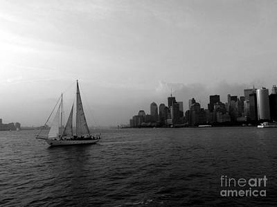 Sailing On The Hudson Art Print by Avis  Noelle