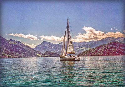 Photograph - Sailing On The Lake by Hanny Heim