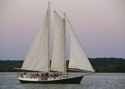 Sailing On The Potomac Art Print