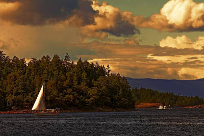Photograph - Sailing On The Sunshine Coast by Peggy Collins