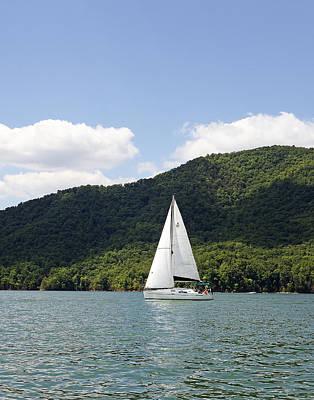 Tva Photograph - Sailing On Watauga Lake - Tennessee by Brendan Reals
