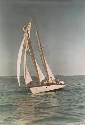 Sailing, One Of The Many Sports Art Print by J. Baylor Roberts