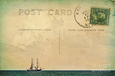 Sailing Postcard Art Print by Angela Doelling AD DESIGN Photo and PhotoArt