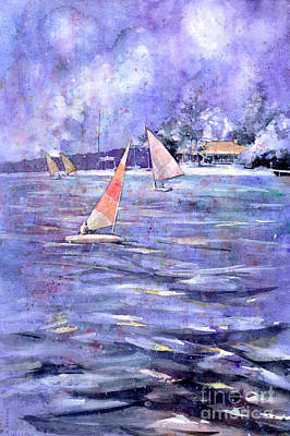 Yacht Club Painting - Sailing Race by Ryan Fox