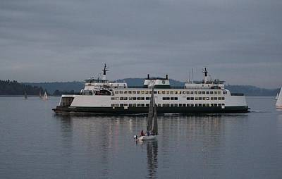 Photograph - Sailing Regatta And Issaquah Ferry by E Faithe Lester