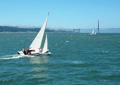 Photograph - Sailing San Francisco Bay by Connie Fox