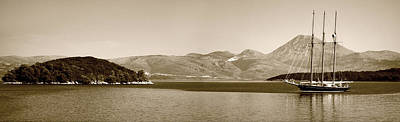 Photograph - Sailing Ship In The Adriatic Islands In Sepia by Weston Westmoreland