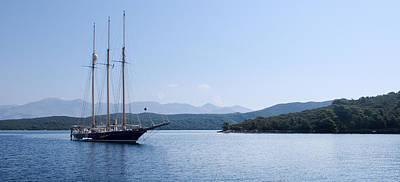 Sailing Ship In The Adriatic Islands Art Print