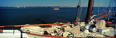 Sailing Ship In The Ocean, Charleston Art Print