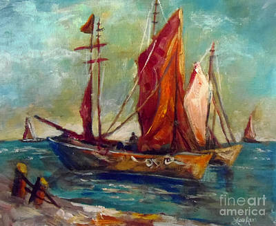 Painting - Sailing Ships by Lou Ann Bagnall