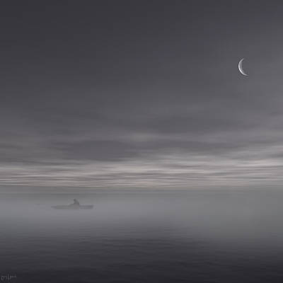 Mist Photograph - Sailing Solitude by Lourry Legarde