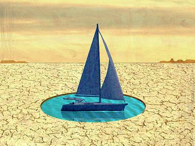 Boating Digital Art - Sailing by Steve Dininno