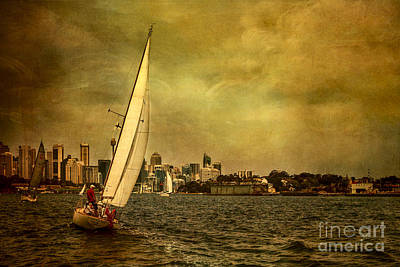 Photograph - Sailing Sydney Harbour by Barbara Youngleson