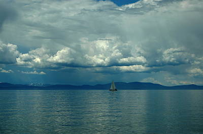 Photograph - Sailing Tahoe by Tamyra Crossley