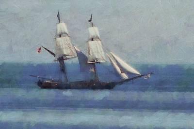 Sailing The Blue Sea Art Print by Dan Sproul