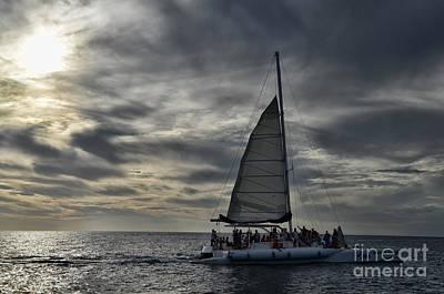 Sailing The Caribbean Art Print