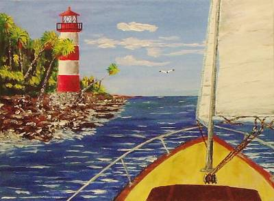 Sailing The Coast Art Print