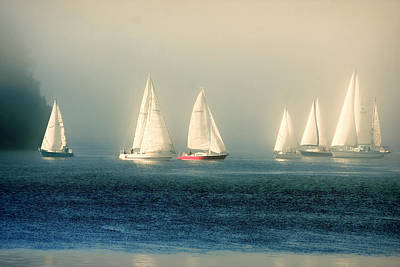 Photograph - Sailing The Deep Blue Sea by Peggy Collins