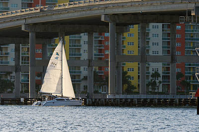 Christmas Christopher And Amanda Elwell - Sailing the Intracoastal by Ed Gleichman