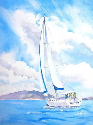 Painting - Sailing The Islands by Carlin Blahnik