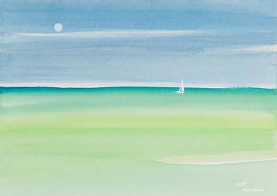Sailing The Keys Watercolor Painting Original