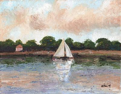 Sailing The Lagoon Art Print