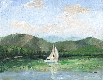 Painting - Sailing The Lake 1 by William Killen