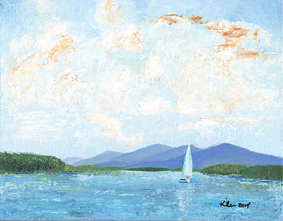Painting - Sailing The Lake 2 by William Killen