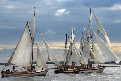 Sailing The Limfjord Print by Robert Lacy