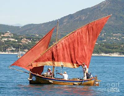 Sailing The Mediterranean Art Print by Lainie Wrightson