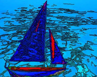 Photograph - Sailing The Seas by Sandy Poore