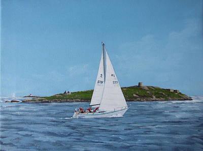 Sailing Through Dalkey Sound Art Print by Tony Gunning
