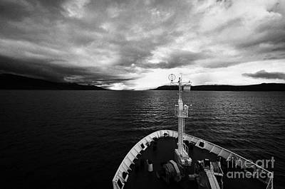 Navarino Photograph - sailing through the Beagle Channel between Isla Navarino and Tierra Del Fuego Chile and Argentina by Joe Fox