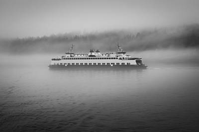 Sailing Through The Fog Art Print