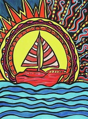 Sailing To The Sun Art Print by Lorinda Fore