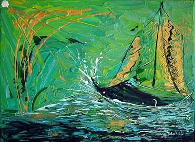 Painting - Sailing Toward The Light by Donna Blackhall
