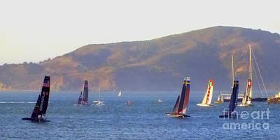 Sailing Photograph - Sailing Upwind by Scott Cameron