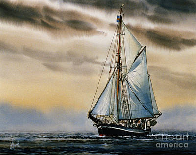 Sailing Vessel Seute Deern Art Print by James Williamson