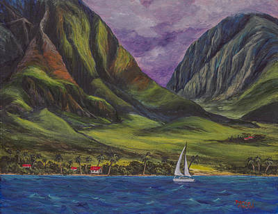 Painting - Sailing West Maui by Darice Machel McGuire