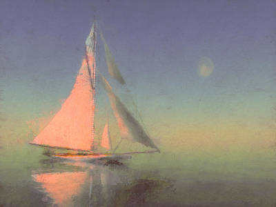 Sailboat Digital Art - Sailor Moon by Lonnie Christopher
