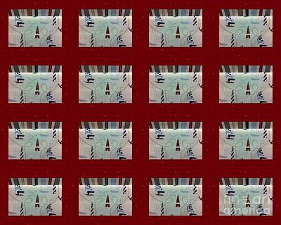 Red And White Quilt Photograph - Nautical Quilt With Red Sashing by Barbara Griffin