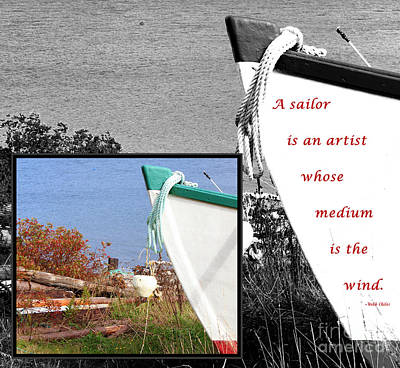 Sailor - Wind - Water - Boats Art Print by Barbara Griffin